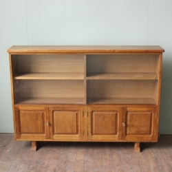 "Colin 'Beaverman' Almack 4'8"" Oak Bookcase / Display Cabinet"