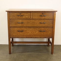 Arthur W. Simpson of Kendal, Oak Chest of Drawers