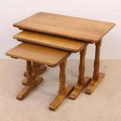 Bob 'Wrenman' Hunter Oak Nest of 3 Tables