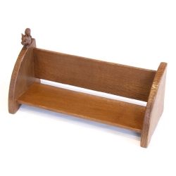 "Wilf 'Squirrelman' Hutchinson 19"" Oak Book Trough"