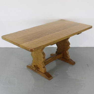 Sid Pollard 'ex Mouseman' 5' Oak Dining Table