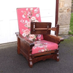 Robert Thompson 'Mouseman' Rare Early Reading Chair