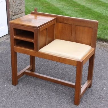 Wilf 'Squirrelman' Hutchinson, Oak Side Table and Seat