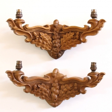 Mouseman Robert Thompson Pair of Wall Lights