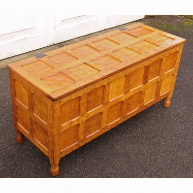 "Sid Pollard, 3'6"" Oak Blanket Box"