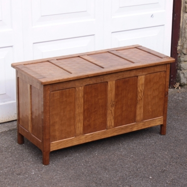 "Alan 'Acornman' Grainger 3'6"" Oak Blanket Box"