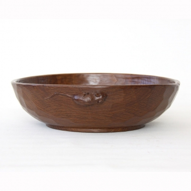 "Robert Thompson 'Mouseman' 10"" Early Oak Fruitbowl"