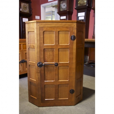 Robert 'Mouseman' Thompson   Oak Corner Cupboard