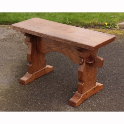 "Robert Thompson 'Mouseman' Oak 2'6"" Bench Seat"