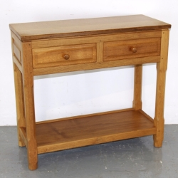 'Carthouse Furniture' Phil Langstaff, Oak Console Table