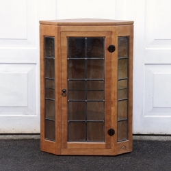 Robert 'Mouseman' Thompson Glazed Oak Display Cabinet