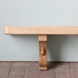 "Robert 'Mouseman' Thompson Bespoke 4'10"" Oak Wall Shelf"