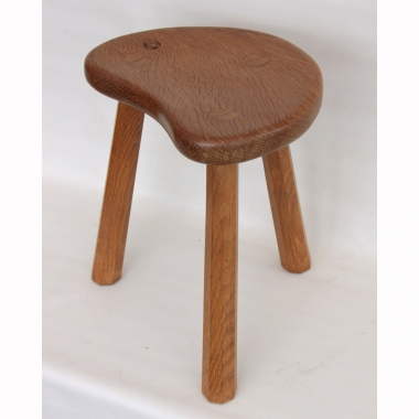 "Malcolm Pipes 'Foxman' 14"" Oak  Calf Stool"