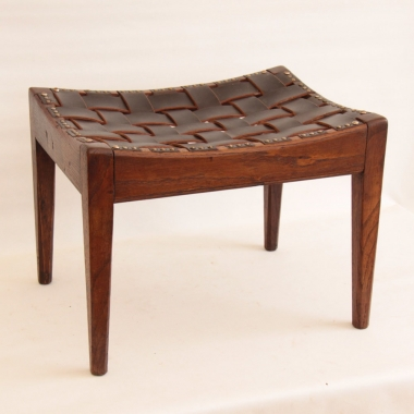 Arthur Simpson of Kendal Oak & Leather 'Easy Stool'