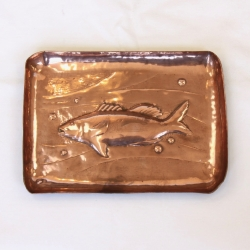 Arts and Crafts 22cm Copper Dish, Manner of Newlyn School