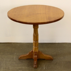 Colin 'Beaverman' Almack Oak Folding Pedestal Occasional Table