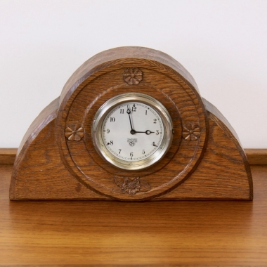 Malcolm Pipes Bespoke Yorkshire Oak Mantel Clock