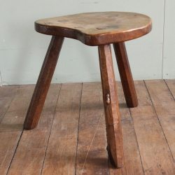 Robert 'Mouseman' Thompson Early Large Cow Stool