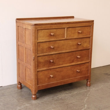 Robert 'Mouseman' Thompson 3' Adzed Oak Chest of Drawers