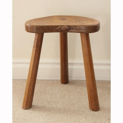Robert 'Mouseman' Thompson, Oak Milking Stool