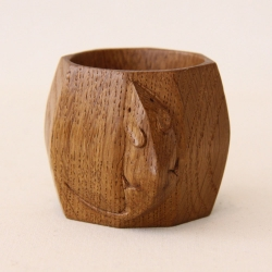 "Robert Thompson 'Mouseman' 2"" Oak Napkin Ring"