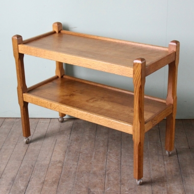 Albert Jeffray Eagleman Oak Serving Trolley