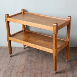 Albert 'Eagleman' Jeffray Oak Serving Trolley
