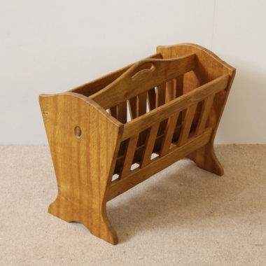 Acornman Alan Grainger Acorn Industries Oak Magazine Rack