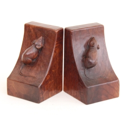 Robert 'Mouseman' Thompson Early Oak Bookends