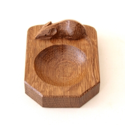 Robert 'Mouseman' Thompson Oak Pin Tray