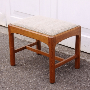Stanley Webb Davies Arts and Crafts Cotswold School Oak Stool