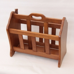 Wilf Hutchinson 'Squirrelman' Oak Magazine Rack