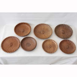 Thomas Whittaker 'Gnomeman' Assortment of 7 Oak Carved Bowls