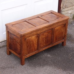 Thomas 'Gnomeman' Whittaker Rare Early Oak Coffer