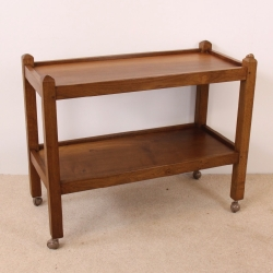 Robert 'Mouseman' Thompson 2 Tier Oak Trolley