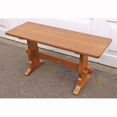 "Colin 'Beaverman' Almack, Oak 3'6"" Rectangular Coffee Table"