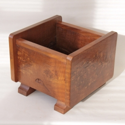 "Robert Thompson 'Mouseman' Rare Burr Oak 14 1/2"" Square Planter"