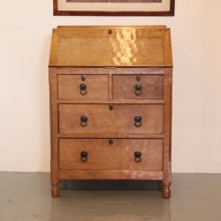 Wilf Hutchinson 'Squirrelman' Oak Writing Bureau