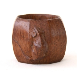 Robert Thompson 'Mouseman' Oak Early Napkin Ring