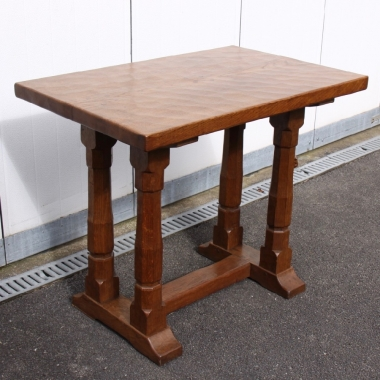 Robert 'Mouseman' Thompson Bespoke Early 3' Oak Side Table, Horlicks Collection