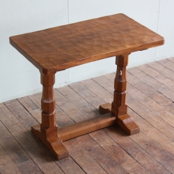 "Robert 'Mouseman' Thompson 2'10"" Oak Hall /Extension Table"