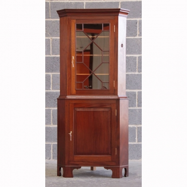 Alan Grainger 'Acornman' Mahogany Glazed Corner Display Cabinet