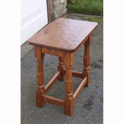 "Wilf Hutchinson 'Squirrelman' Oak Early 18 1/2"" Stool or Occasional Table"