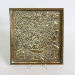 Keswick School Arts and Crafts Brass Tray