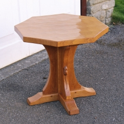 Robert Thompson 'Mouseman' Oak Octagonal Coffee Table