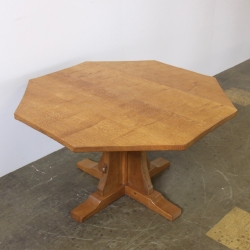 "Robert 'Mouseman' Thompson 3'6"" Octagonal Oak Occasional Table"