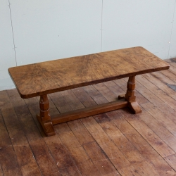 Robert 'Mouseman' Thompson Rare Burr Oak 4' Coffee Table