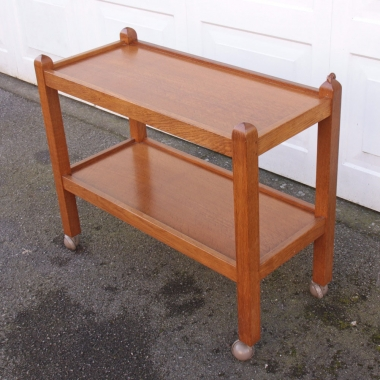 Robert Thompson 'Mouseman' Oak Serving Trolley