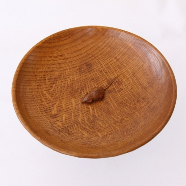"Robert 'Mouseman' Thompson, Oak  11"" Fruitbowl"