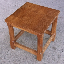 Peter 'Rabbitman' Heap Oak Occasional / Lamp Table